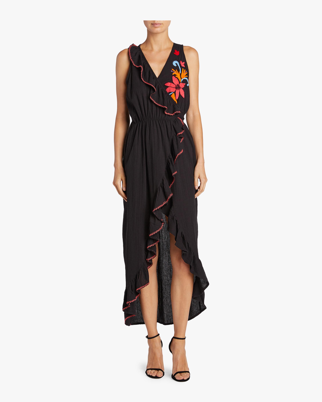 Maxi Embroidered Fringe Dress