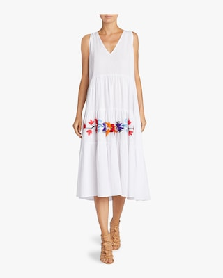 Maxi Embroidered Flower Dress