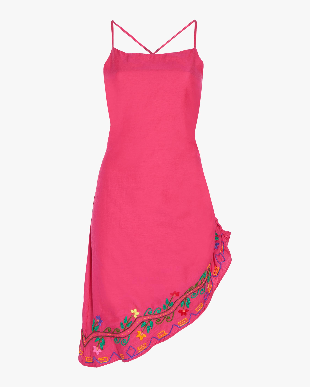 Mini Side Slit Embroidered Dress
