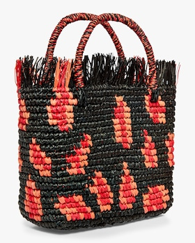 Canasta Mexicana Frayed Medium Handbag