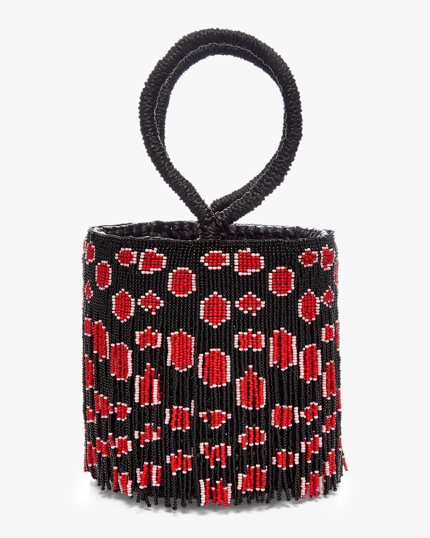 Beaded Leopard Bucket Bag