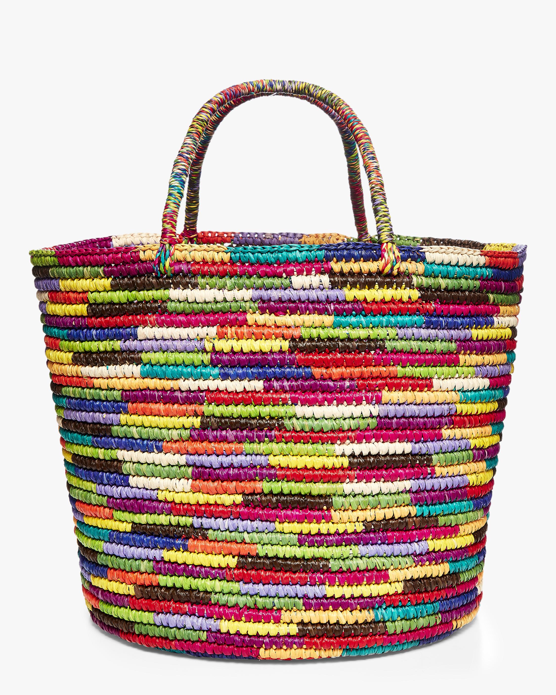 Sensi Studio Maxi Multicolor Woven Straw Tote 0