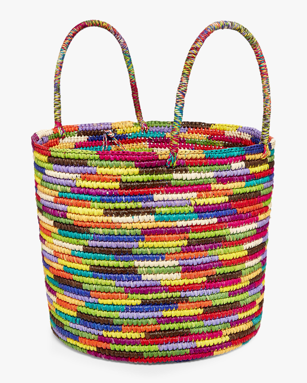 Maxi Multicolor Woven Straw Tote