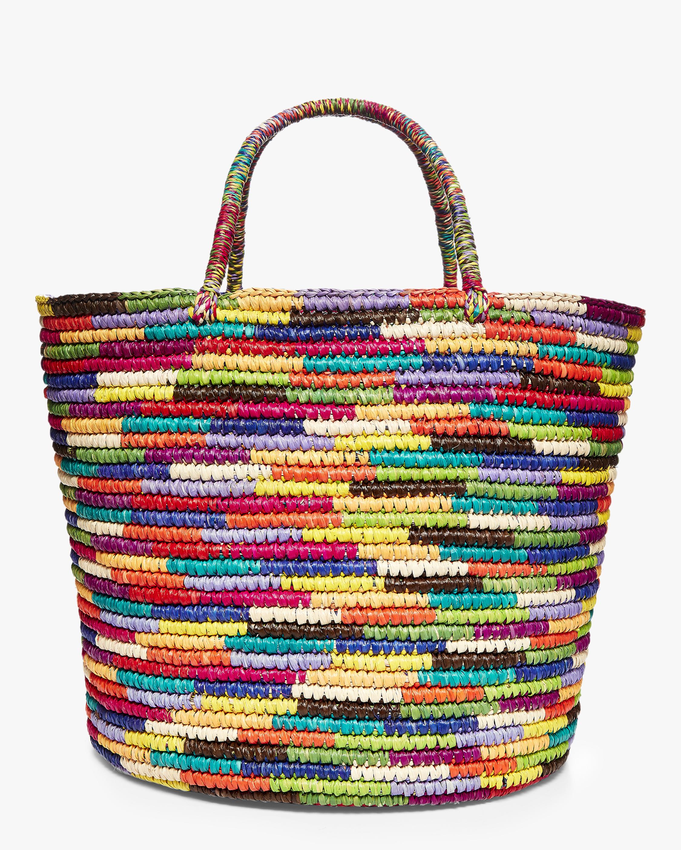 Sensi Studio Maxi Multicolor Woven Straw Tote 2