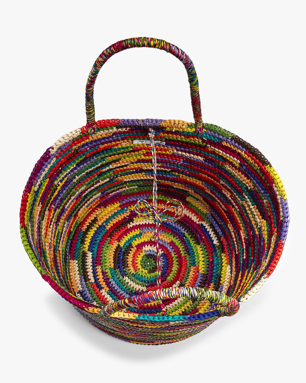 Sensi Studio Maxi Multicolor Woven Straw Tote 3