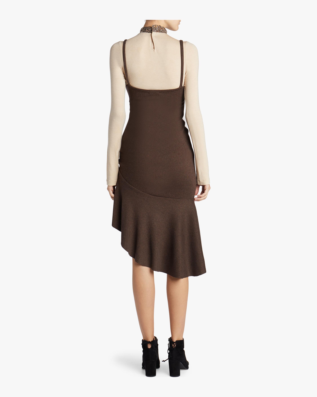 Ribbed Knit Flounce Dress aaizél