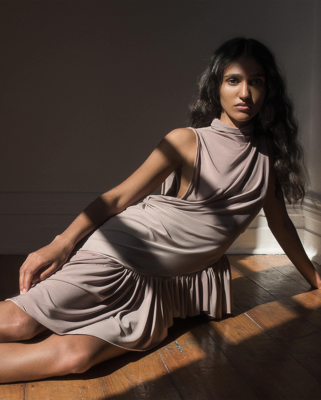 Asymmetrical Frill Dress