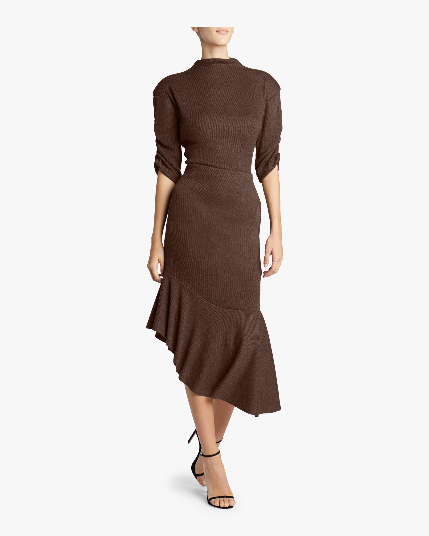 Ribbed Knit Flounce Skirt
