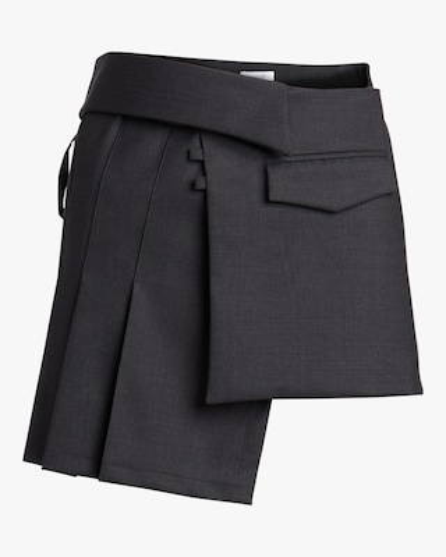 aaizél Pleated Wrap Mini Skirt 1