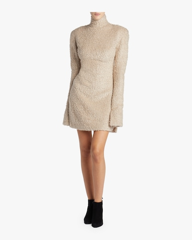 Jane High Neck Structured Dress