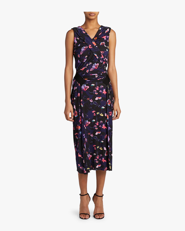Printed Jersey Sleeveless Dress