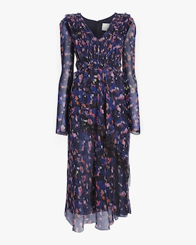 Printed Silk Chiffon Day Dress