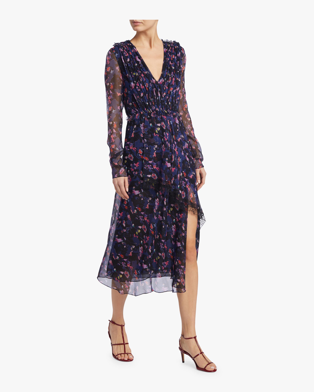 Printed Silk Chiffon Day Dress