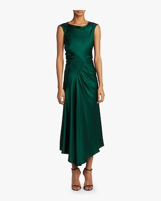 Silk Charmeuse Cocktail Dress