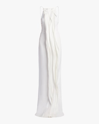Stretch Cady Evening Gown