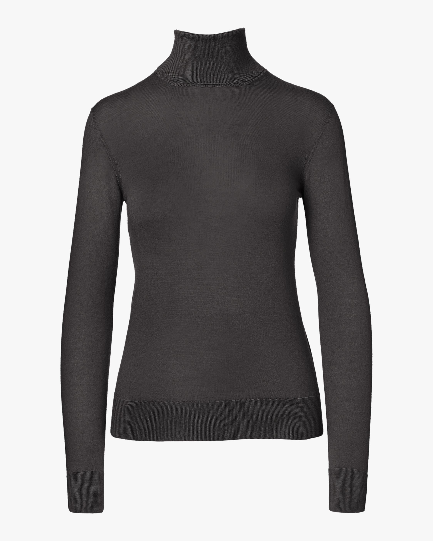 Cashmere Jersey Turtleneck Sweater