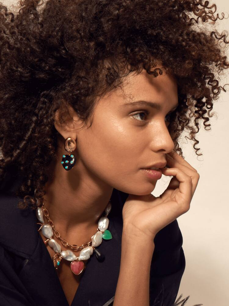 Turquoise Amore Earrings Lizzie Fortunato