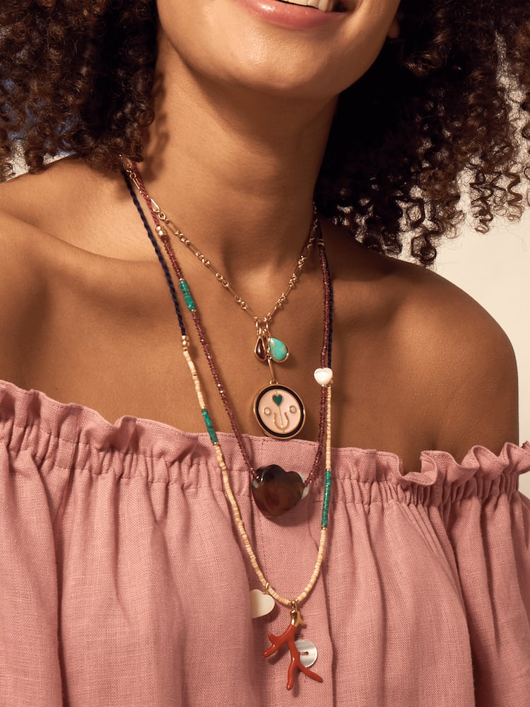 Simple Reef Charm Necklace Lizzie Fortunato