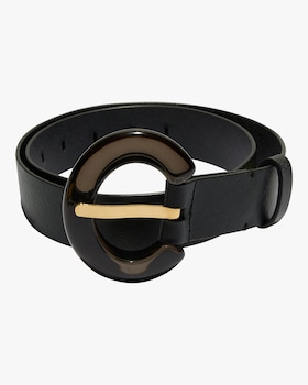 Black Lucite Sofia Belt