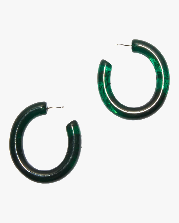Sea Green Rome Hoop Earrings