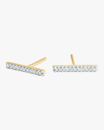 Pavé Bar Post Earrings