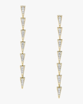 Pavé Triangle Link Earrings