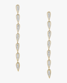 Pavé Teardrop Link Earrings