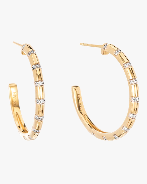 Large Diamond Stripe Hoop Earrings