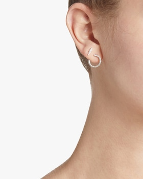 Pavé Wrap Hoop Earrings