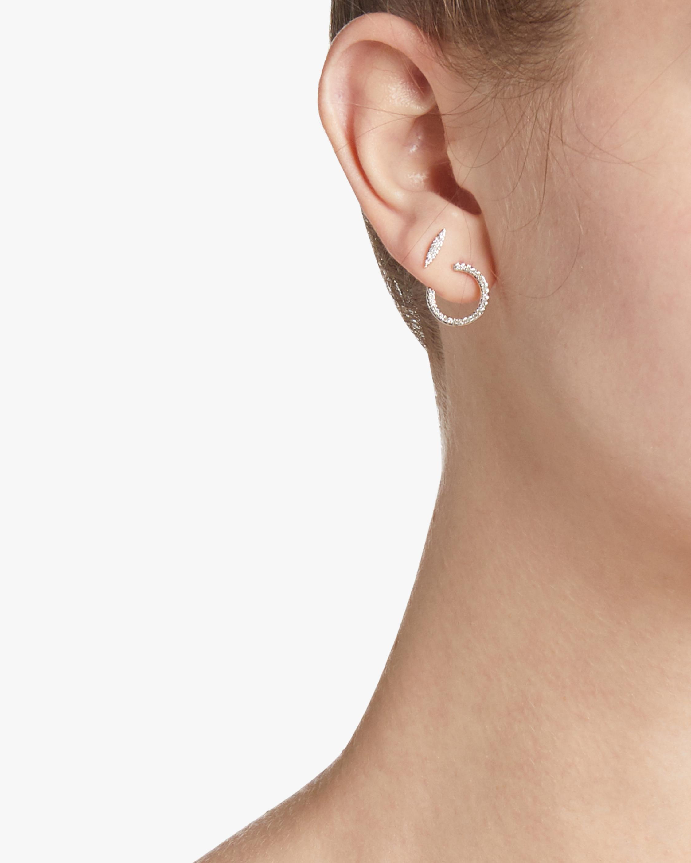 Pavé Wrap Hoop Earrings