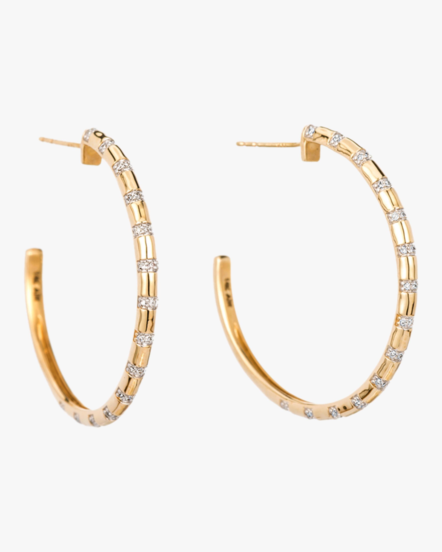 XL Diamond Stripe Hoop Earrings
