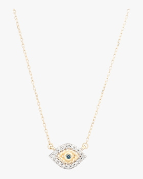 Super Tiny Pavé Evil Eye Necklace