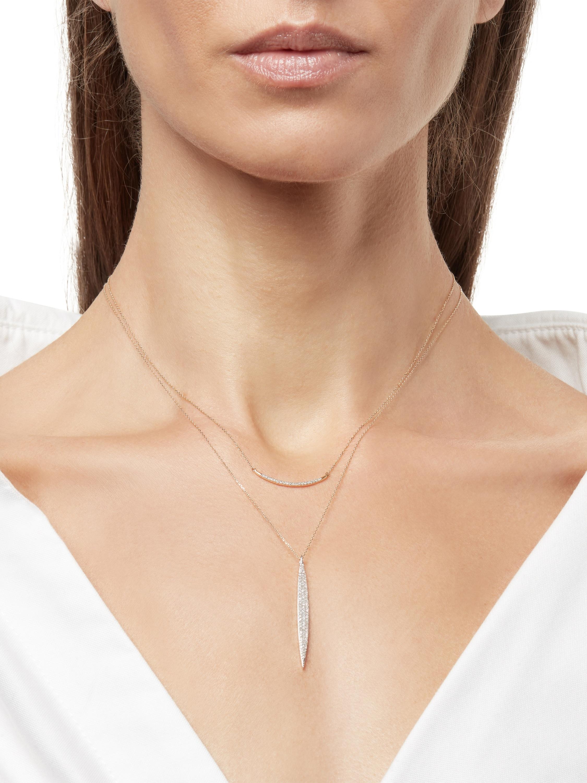 Large Pavé Curve Necklace
