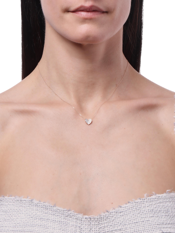 Pavé Folded Heart Necklace