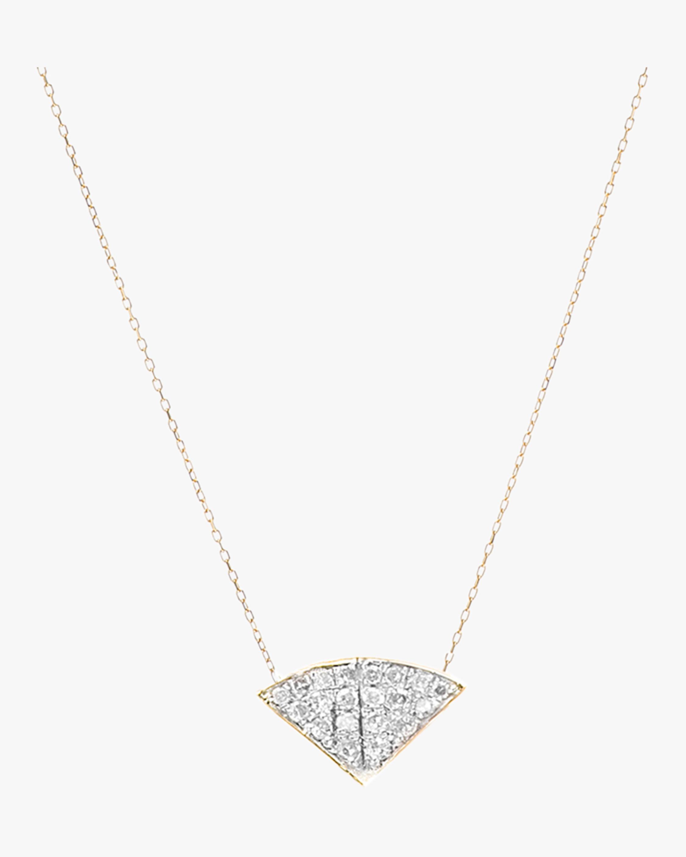 Pavé Folded Fan Necklace