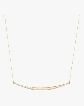 XL Diamond Stripe Curve Necklace