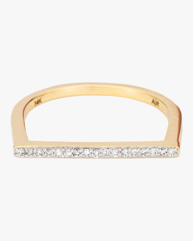 Pavé Flat Bar Ring
