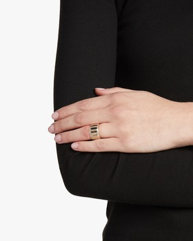 Diamond Stripe Barrel Ring