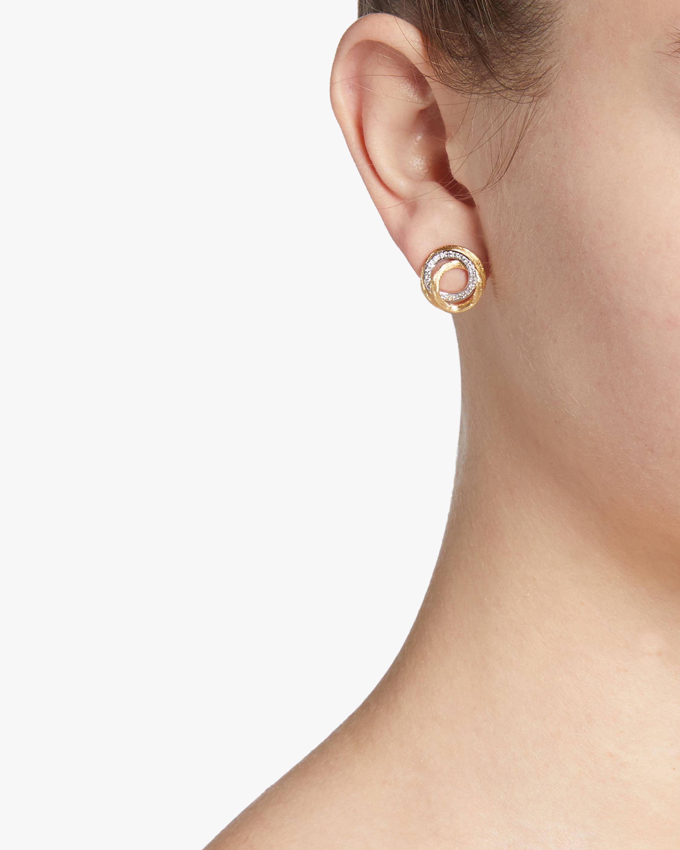 Diamond Jaipur Link Stud Earrings