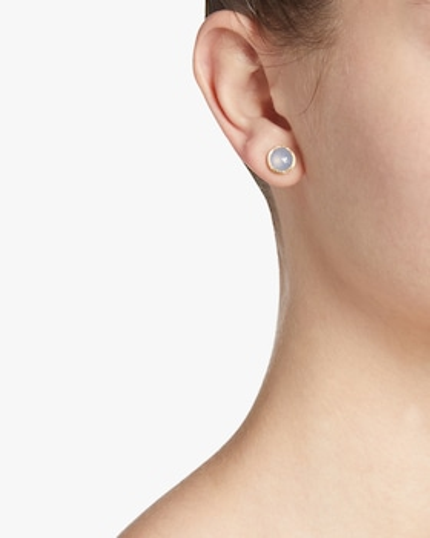Jaipur Chalcedony Stud Earrings