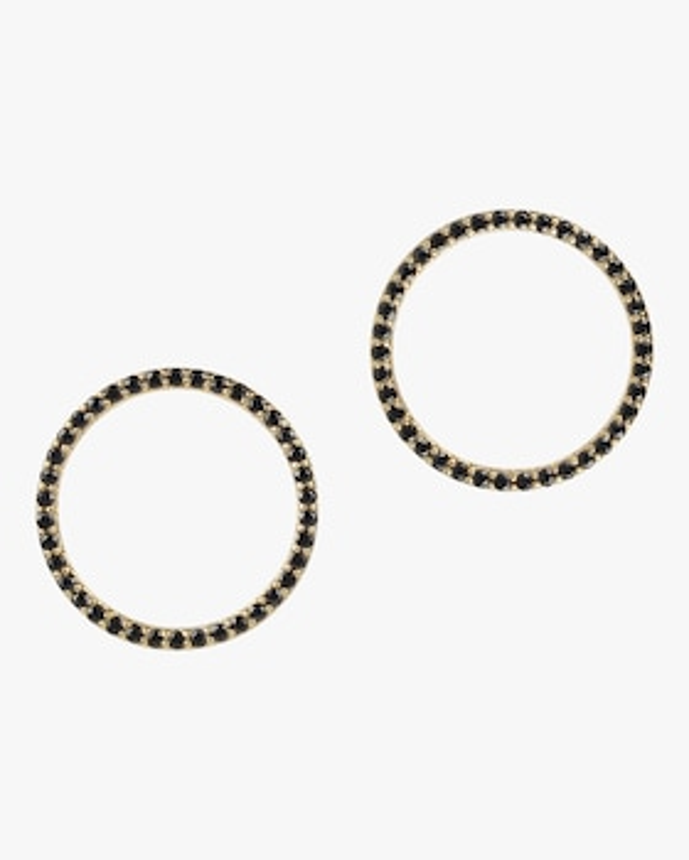 Black Spinel Pavé Halo Stud Earrings