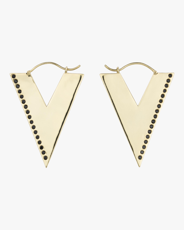 OIA Jewellery Black Spinel Trilogy Hoop Earrings 0