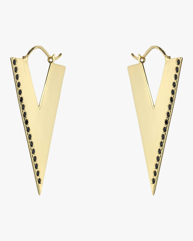 OIA Jewellery Black Spinel Trilogy Hoop Earrings 2