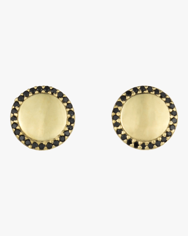 Black Spinel Pavé Orbit Stud Earrings