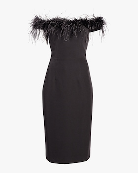 Elle Feather Bodice Dress