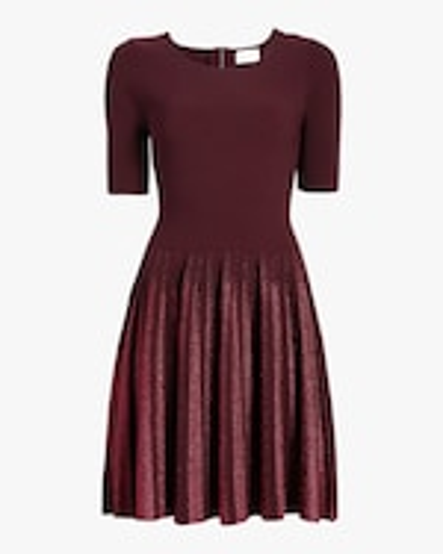 Milly Lurex Pleated Dress 0