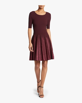 Lurex Pleated Dress