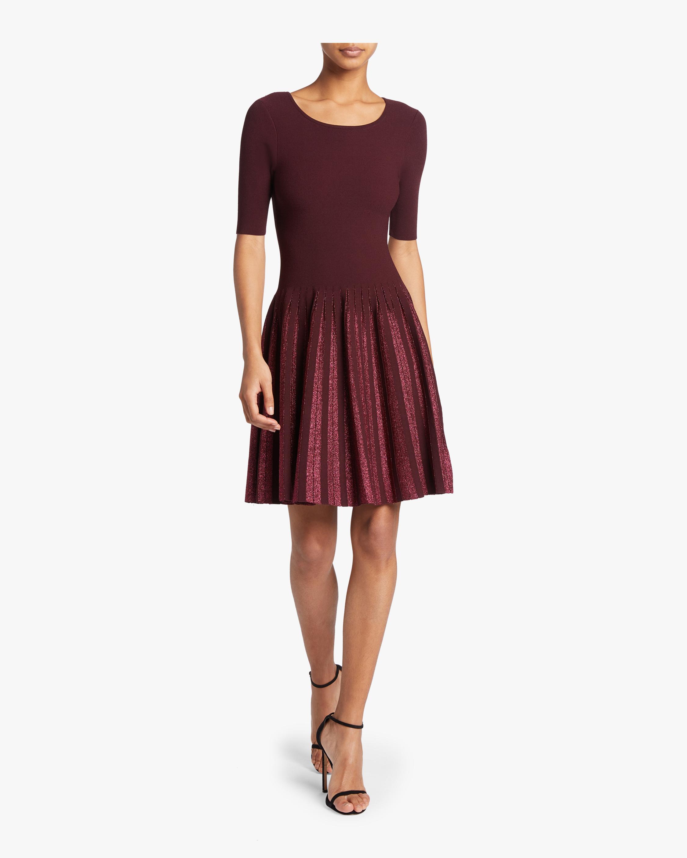 Milly Lurex Pleated Dress 1