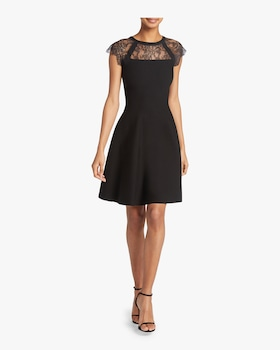 Lace Yoke Flare Dress