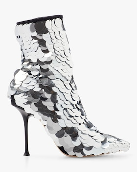 Suede and Sequin Bootie